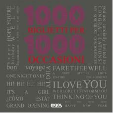 1000 BIGLIETTI PER 1000 OCCASIONI - OUTLET