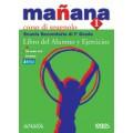 MANANA 1 LIBRO DEL ALUMNO Y EJERCICIOS + PORTFOLIO + CD AUDIO