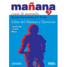 MANANA 3 LIBRO DEL ALUMNO Y EJERCICIOS + PORTFOLIO + CD AUDIO