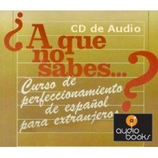 ¿A QUE NO SABES...? CD AUDIO