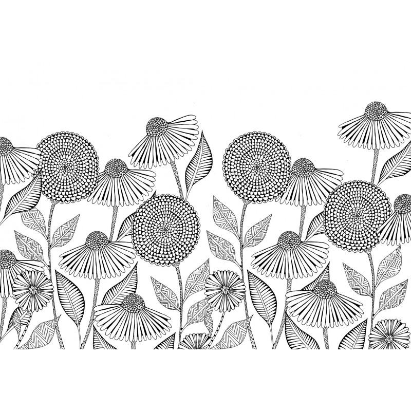 Colorare in 3d fiori for Disegni da colorare per adulti paesaggi