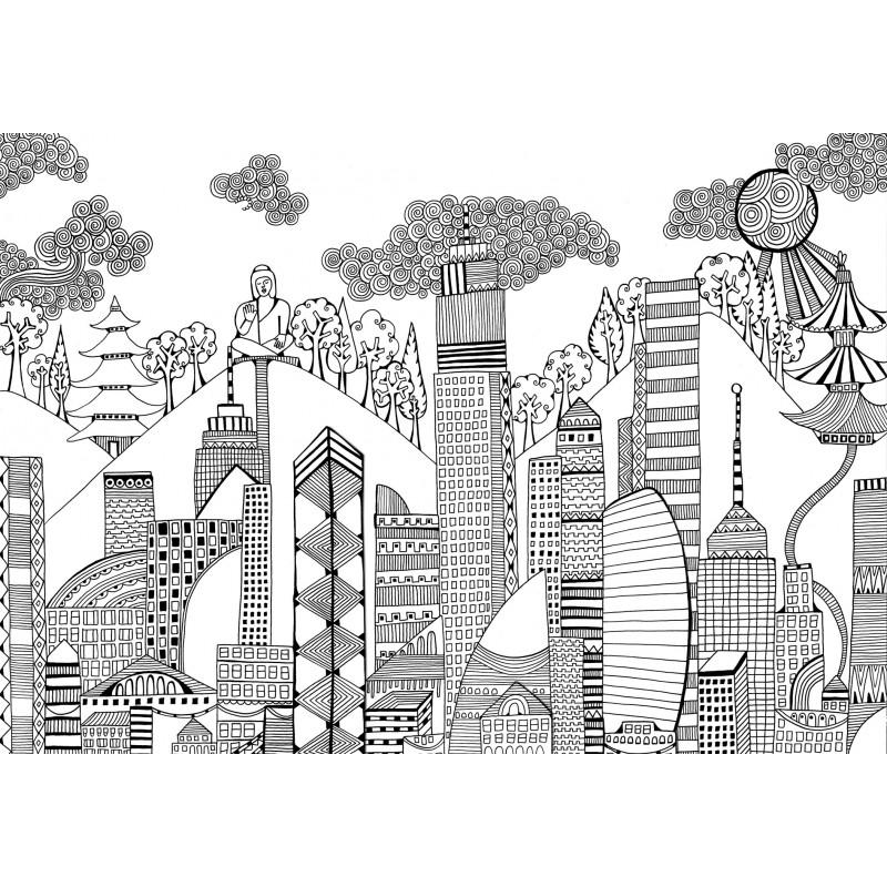 Bellissimo Disegno Paesaggio Primavera Da Colorare Migliori Pagine